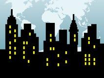 Silhouette abstraite de ville Image libre de droits