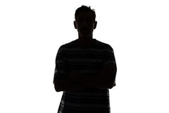 Silhouette of adult man Stock Images