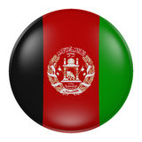 Silhouette of Afghanistan button Stock Photography
