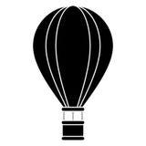 Silhouette airballoon travel recreation adventure. Vector illustration eps 10 Stock Photos