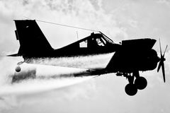 A silhouette of the aircraft Royalty Free Stock Photo