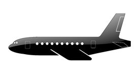 Silhouette of a aircraft. Royalty Free Stock Image