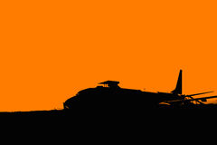 Silhouette Airplane Royalty Free Stock Photography
