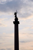 Silhouette of Alexander Column. Royalty Free Stock Image