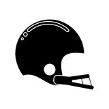 Silhouette american football helmet sport. Illustration eps 10 Royalty Free Stock Image