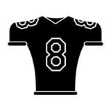 Silhouette american football jersey uniform tshirt Stock Photography