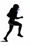 Silhouette American football player runing Royalty Free Stock Image