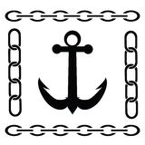 Silhouette of anchor Royalty Free Stock Photos