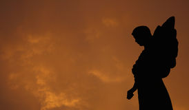 Silhouette of an Angel Royalty Free Stock Image
