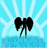 Silhouette of an angel Royalty Free Stock Photo