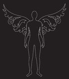 Silhouette of angel Stock Image