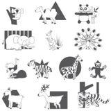 Silhouette animal icons Stock Photos