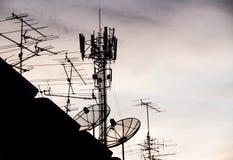 Silhouette antenna Royalty Free Stock Image