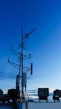 Silhouette of antenna Royalty Free Stock Photos
