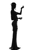 Silhouette of the antique goddess Stock Image