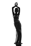 Silhouette of the antique goddess. Silhouette of an ancient goddess, isolated on white background Royalty Free Stock Images