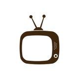 silhouette antique tv icon flat Royalty Free Stock Photos