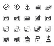 Silhouette Application, Programming, Server and computer icons Royalty Free Stock Image