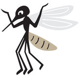 Silhouette of arrogant mosquito Stock Photo