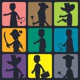 Silhouette art Stock Image