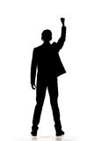 Silhouette of Asian businessman open arms Royalty Free Stock Image