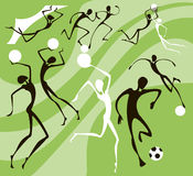 Silhouette of athletes Stock Images