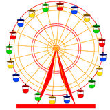 Silhouette atraktsion colorful ferris wheel Stock Photography