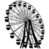 Silhouette atraktsion colorful ferris wheel Stock Photos