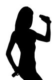 Silhouette of an attractive woman Royalty Free Stock Images