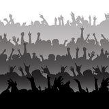 Silhouette of an Audience Royalty Free Stock Images