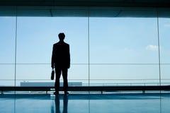 Silhouette av affärsmannen Royaltyfri Bild