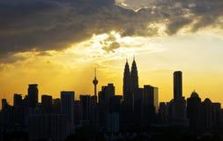 Kuala Lumpur cityscape Stock Illustrationer