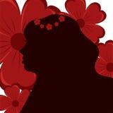 Silhouette av en flicka Royaltyfri Fotografi