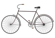 Svart retro cykel stock illustrationer