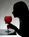 Silhouette av en kvinna Royaltyfri Foto