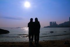 Silhouette av folk Royaltyfri Fotografi