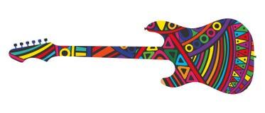 Silhouette av gitarren vektor illustrationer