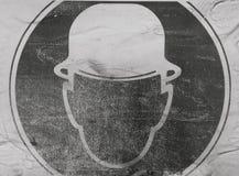 silhouette av mannen i hatt Royaltyfria Foton