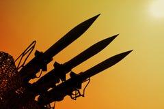 Silhouette av raket Royaltyfria Bilder
