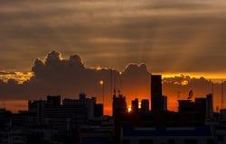 Silhouette av staden Royaltyfria Foton