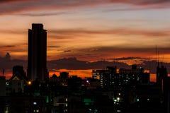 Silhouette av staden Royaltyfri Foto