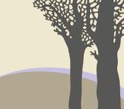 Silhouette av trees Arkivfoto