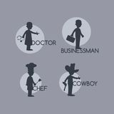 Silhouette avatar portrait picture icon Royalty Free Stock Photos