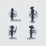Silhouette avatar portrait picture icon Royalty Free Stock Photography