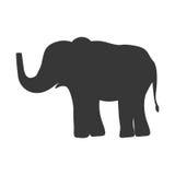Silhouette avec l'animal sauvage d'éléphant Illustration de Vecteur
