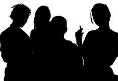 Silhouette avec le chemin de découpage des infirmières Photos libres de droits
