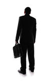 Silhouette back view of business man royalty free stock images