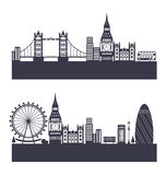 Silhouette Background of Abstract London Skyline Royalty Free Stock Image