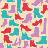 Silhouette background  of men's  and of women's  fashion  Footwe Royalty Free Stock Images