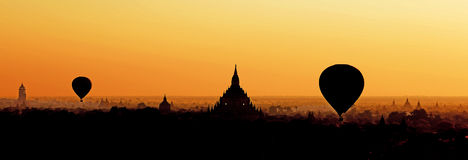 Silhouette of Bagan Stock Images